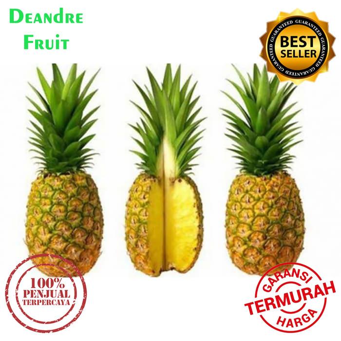 Foto Produk PROMO MURAH 2 pcs Nanas Madu SUPER JUMBO besar Honey Sweet Pineapple e dari Deandre Fruit Market1