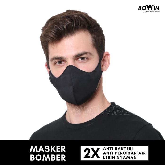 Foto Produk Bowin Masker Bomber - 2x Anti Bakteri & Percikan (Masker Kain 4 Lapis) dari Bowin Indonesia