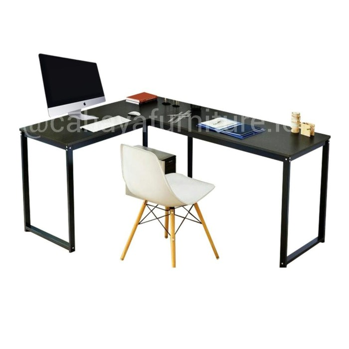 Foto Produk Meja Kantor / Meja Kerja / Meja Belajar / Meja Murah / Meja Leter L dari nadya furniture