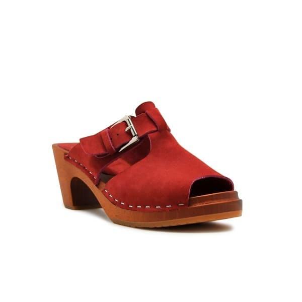 Foto Produk CLOGS Tiffany - Maroon 7cm (Non Insole) dari Natana Shoes