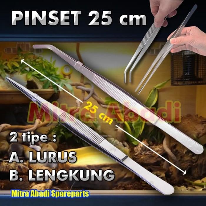 Foto Produk Pinset Besar Big Tweezer 25cm 25 cm 250mm - Lurus dari Mitra Abadi Spareparts