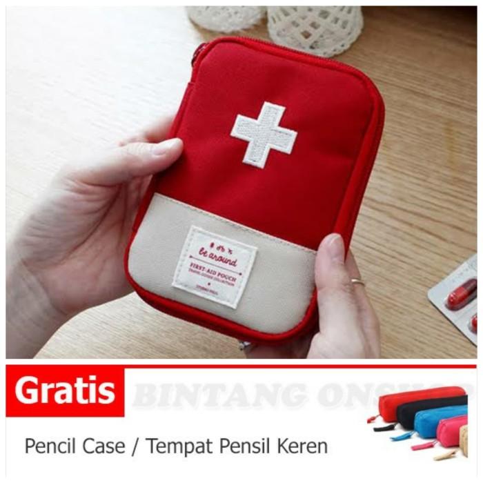 Foto Produk Tas Tempat Obat P3K Pouch First Aid Kit Travel Bag Medical Emergency dari Bintang#1 Onshop