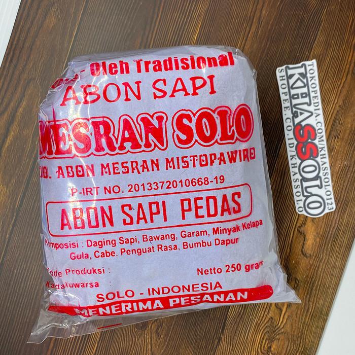 Foto Produk (PROMO) Abon Sapi Solo Asli Mesran 100gr & 250gr Murah Meriah - Pedas, 100gr dari Khassolo
