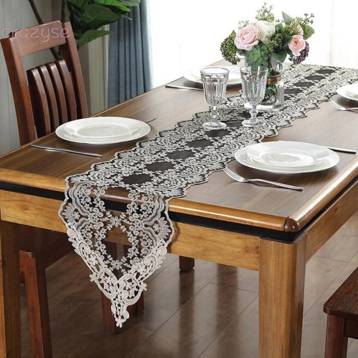 Jual Tablecloth Luxury Home Decor European Black Lace Drawers Coffee Jakarta Selatan Symmetry Altra Tokopedia