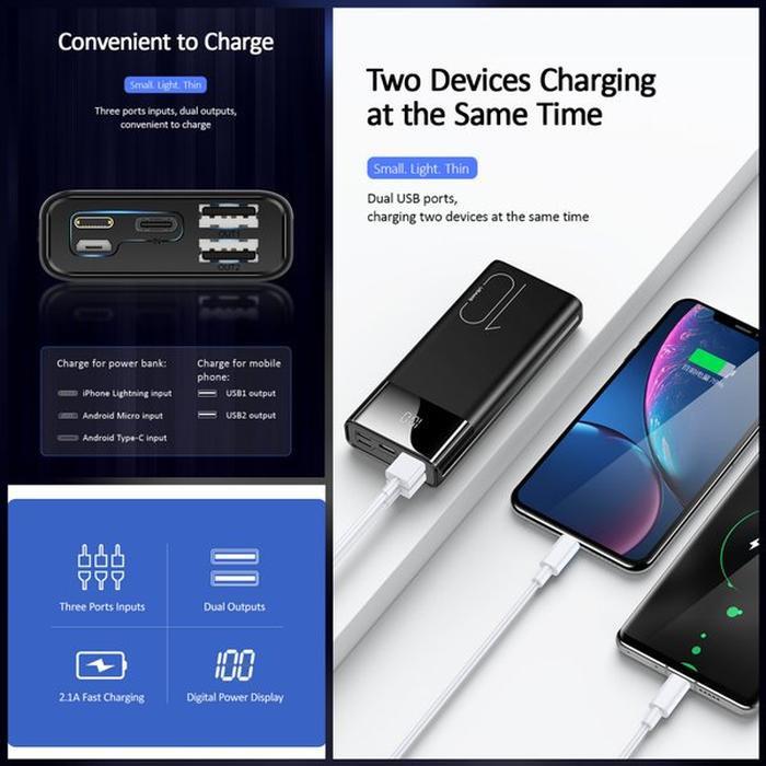 Jual Dijual USAMS PB34 Dual USB Digital Powerbank 10000mAh Murah - Jakarta Barat - Agatastore133 | Tokopedia
