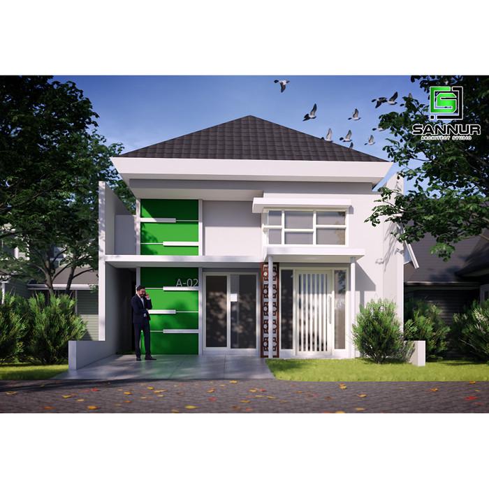Jual Produk Jadi Desain Rumah Minimalis 1 Lantai Tipe 42 Kab Kediri Sannur Arsitek Tokopedia