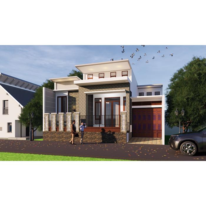 Foto Produk Produk Jadi Desain Rumah minimalis 1 lantai ukuran 15x11 meter dari Sannur Arsitek