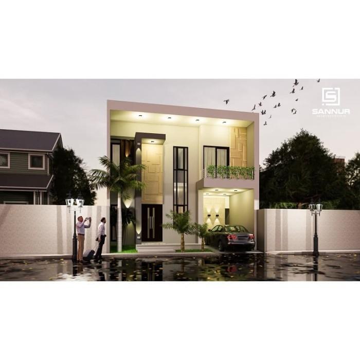 Foto Produk Produk Jadi Desain Rumah minimalis 2 lantai ukuran 8x14 meter dari Sannur Arsitek