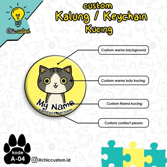 Jual Kalung Kucing Custom Nama Unik Lucu A 04 Kota Cilegon Wongkene Store Tokopedia