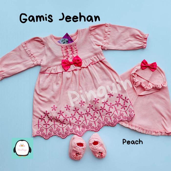 Jual Gamis Bayi Perempuan Set Baju Muslim Anak 0 3 Bulan Newborn Akikah Biru Muda Tanpa Mittens Jakarta Selatan Bos Pingu Tokopedia