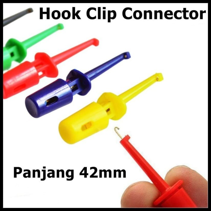 Foto Produk Hook Clip Test Klip Penjepit Connector Jepitan Kail Pengait IC 42mm - Merah dari mulia-electric