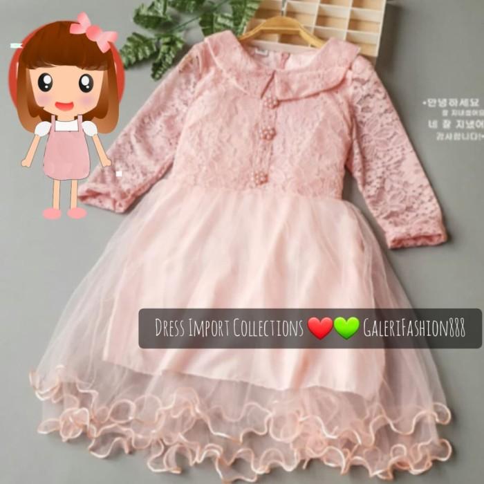 Jual Dress Anak Import Brokat Kombinasi Tile Kerah Lengan Panjang 6 8 Tahun Jakarta Selatan Galerifashion888 Tokopedia