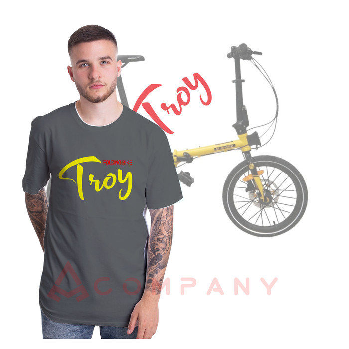 Foto Produk Kaos sepeda lipat element troy folding bike gowes - Hitam, S dari azzam jersey