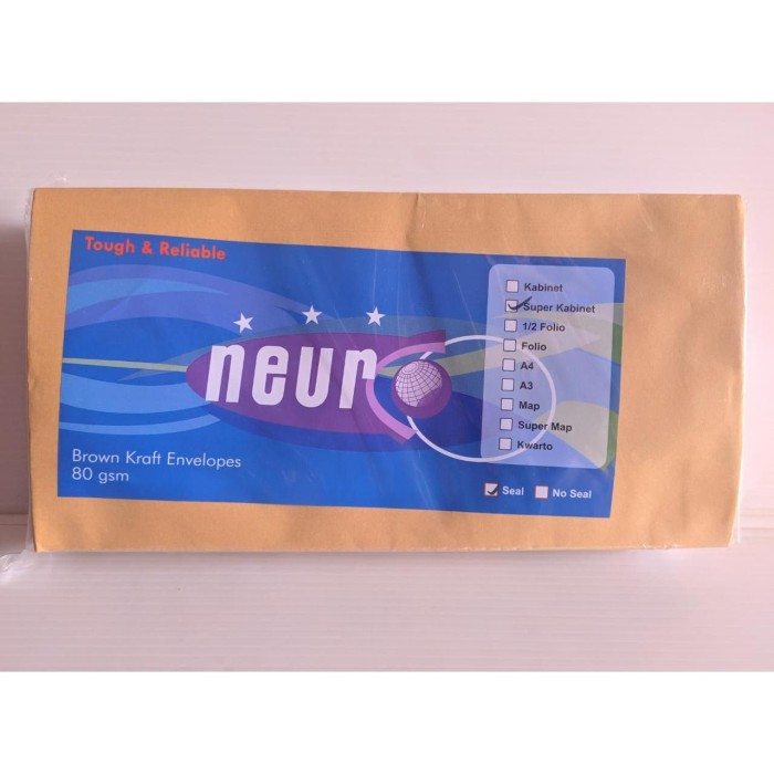 Foto Produk Amplop Coklat Super Kabinet Neuro SEAL (1 pak isi 100 lembar) dari officemart