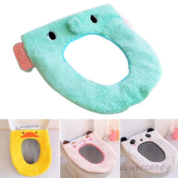 Jual Cute Cartoon Bathroom Toilet Seat Cover Soft Plush Toilet Decor Jakarta Barat Febyola99 Tokopedia