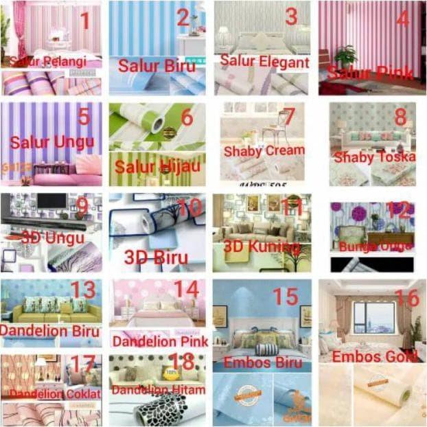 Jual Wallpaper Dinding Karakter Elegant 45cm X 10m Jakarta Barat Anggermanunggal Tokopedia