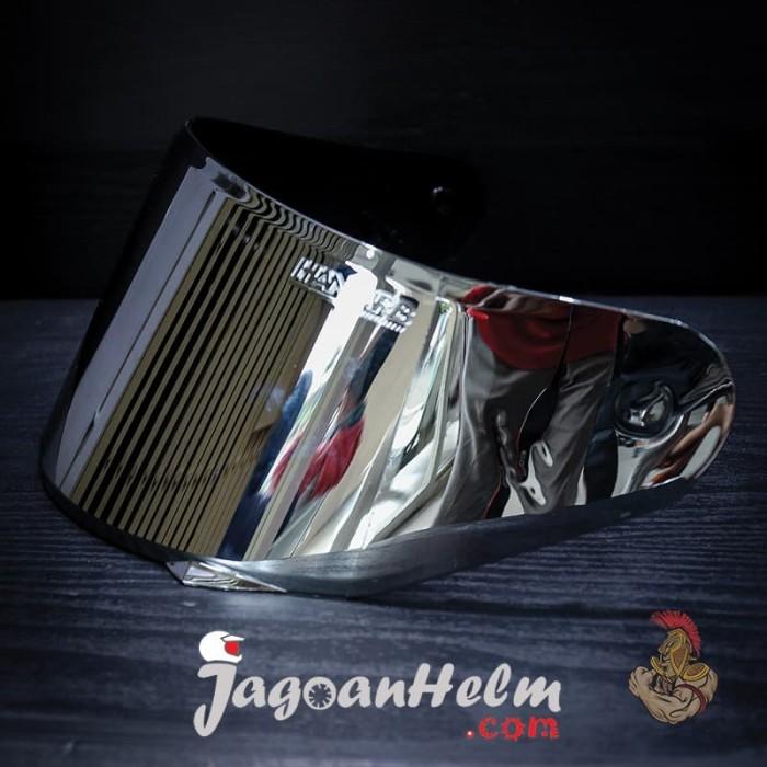 Foto Produk VISOR HELM NHK GP1000 | FLAT SILVER | CUSTOM dari Jagoan Helm