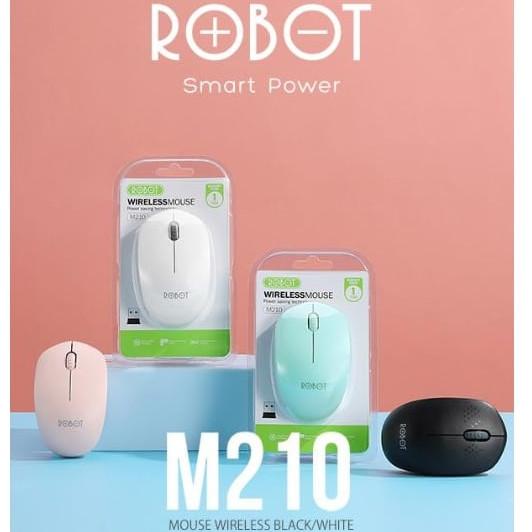 Foto Produk Mouse Wireless Robot M210 2.4Ghz Optical - Putih dari Finel Computer Bintaro