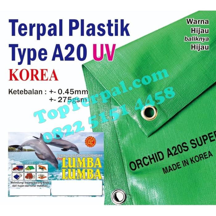 Foto Produk Terpal Plastik Orchid A20S Super UV Ukuran Custom Murah dari Top Terpal Surabaya