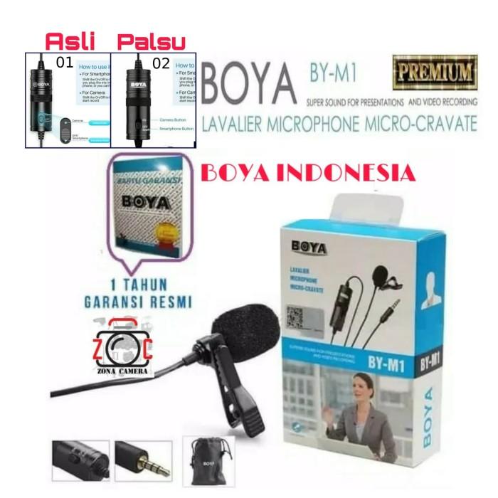 Foto Produk BOYA BY-M1 / M1 Lavalier Microphone Micro Cravate Clip-On DSLR/HP dari zona camera