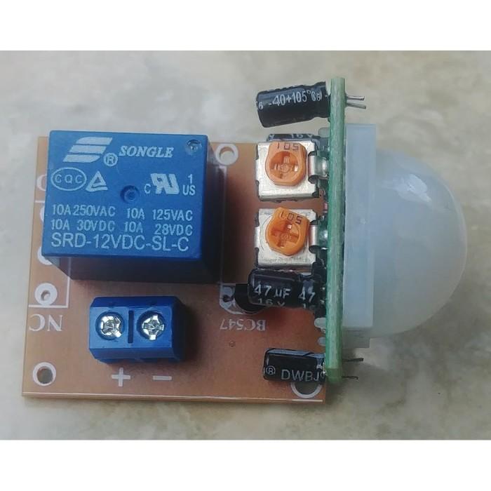 Foto Produk modul sensor gerak otomatis 12v saklar NO NC trigger lampu alarm dari toko segar aman