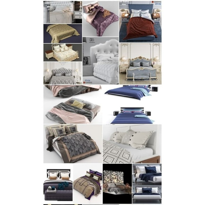 Jual Paket 3d Asset 3ddd 3dsky Pro 168 Beds And Bedroom Decor Vol 2 Kab Gowa Murahk21 Tokopedia