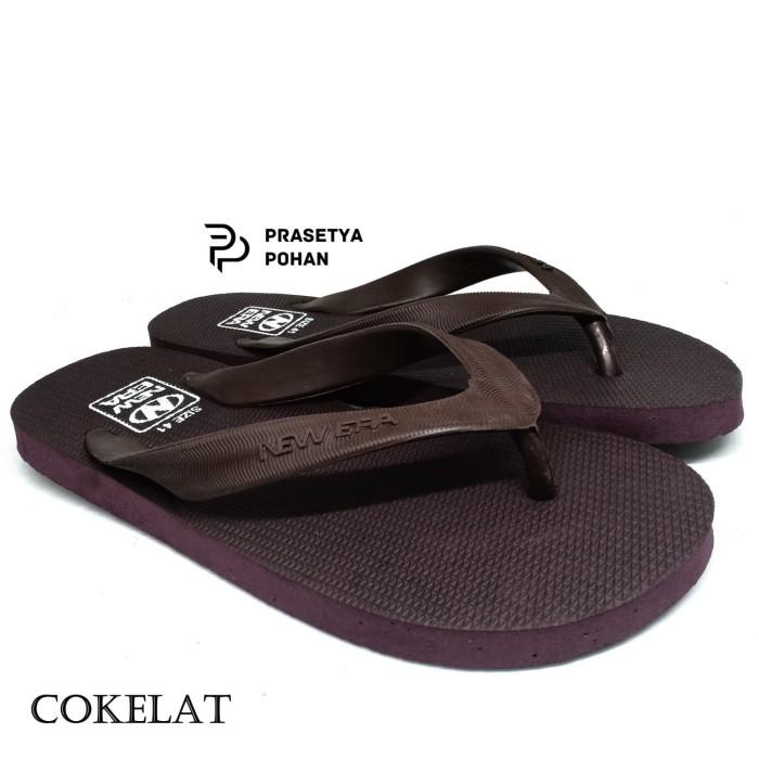 Foto Produk Sandal Jepit Pria 6 Model Sendal Jepit Pria New Era Anti Air - Cokelat dari Prasetya Pohan