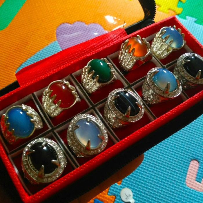 Foto Produk Cincin Batu Akik Chalcedony 10pcs plus kotak cincin dari tyogems