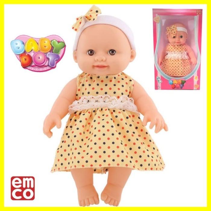 Foto Produk Mainan Boneka Anak Bayi Belajar Edukasi Karakter Baby Dot Polka Kuning dari Iyesh Online Store