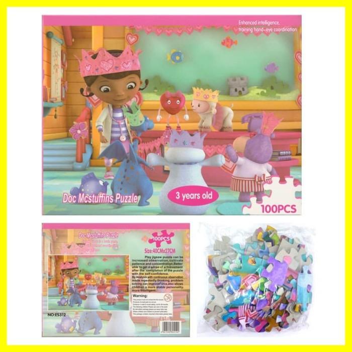 Foto Produk Mainan Anak Belajar Edukasi Doc Mcstuffins Menyusun Puzzle Game 100 pc dari Iyesh Online Store