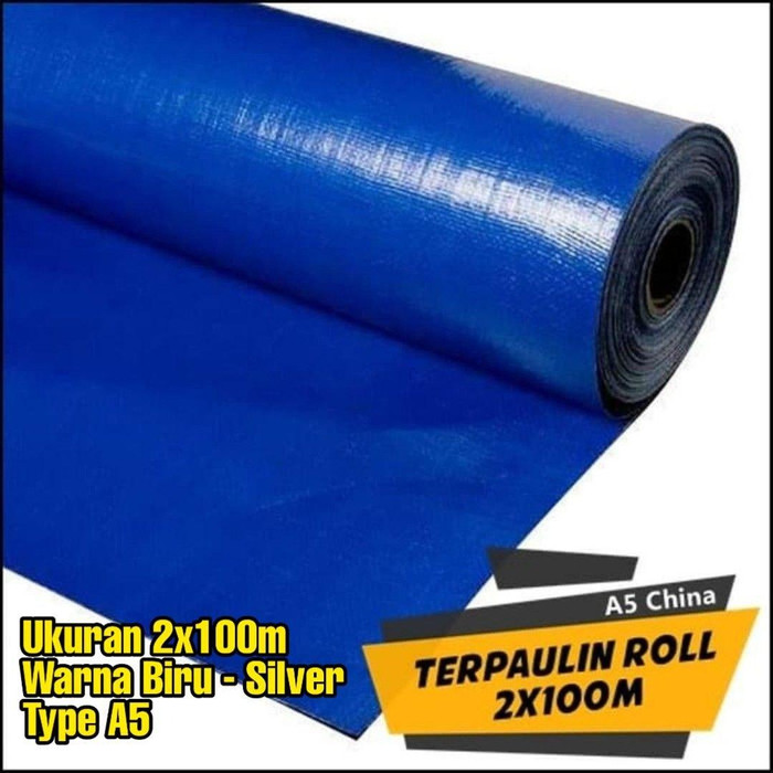 Foto Produk TERPAL ROLL A5/ROLLAN/PLASTIK/KOLAM/TENDA/TRUK Uk. 2X100m BIRU SILVER dari mitradepo