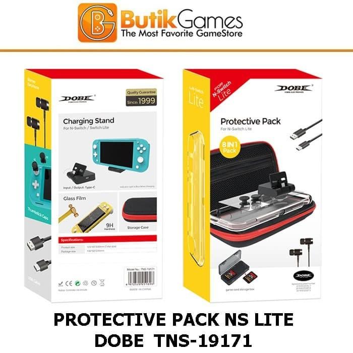 Foto Produk Nintendo Switch Lite Case Tas Dompet Protective Pack Dobe TNS-19171 dari Butikgames