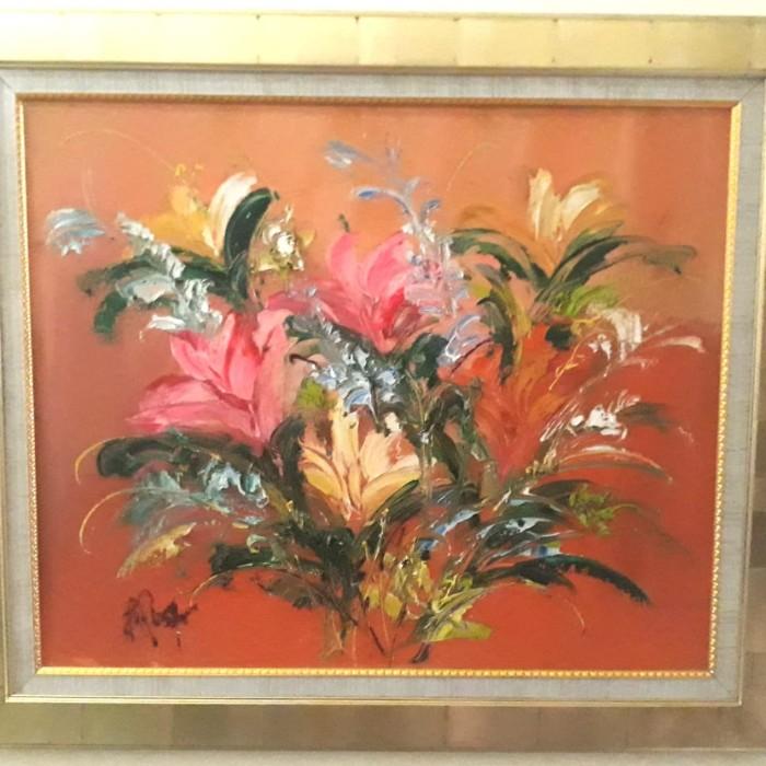 Jual Lukisan Bunga Karya Maestro B Rosar Jakarta Selatan Febiteby Collection Tokopedia