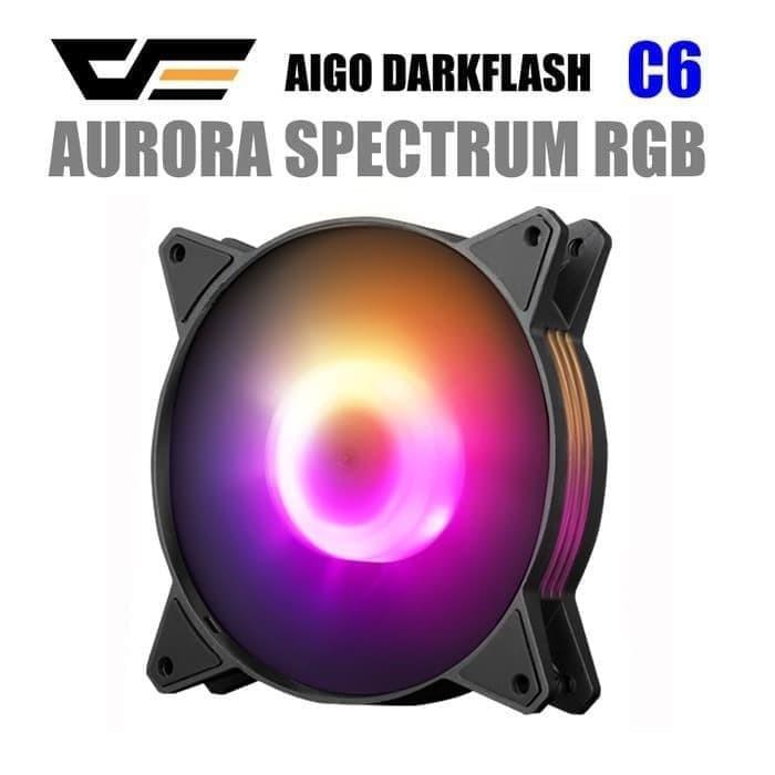 Foto Produk Fan Casing Aigo DarkFlash C6 AURORA RAINBOW - 12CM dari toko expert komputer