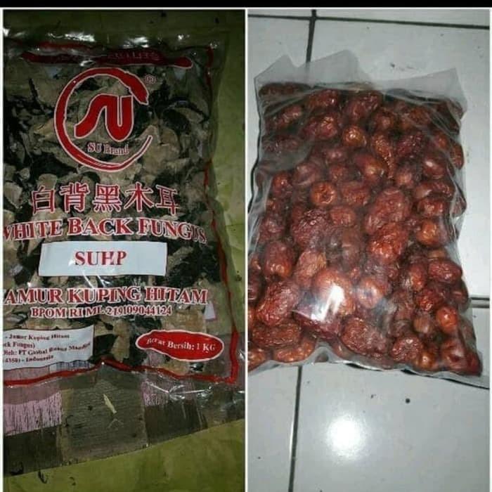 Foto Produk angco 1kg jamur hitam putih 1 kg -untuk kolesterol & jantung dari sehat herbal 56