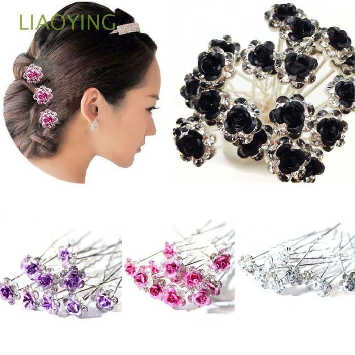 Jual 20pcs Bridal Wedding Hair Clips Flower Hairpins Rhinestone Kota Surabaya Swimming Green Tokopedia