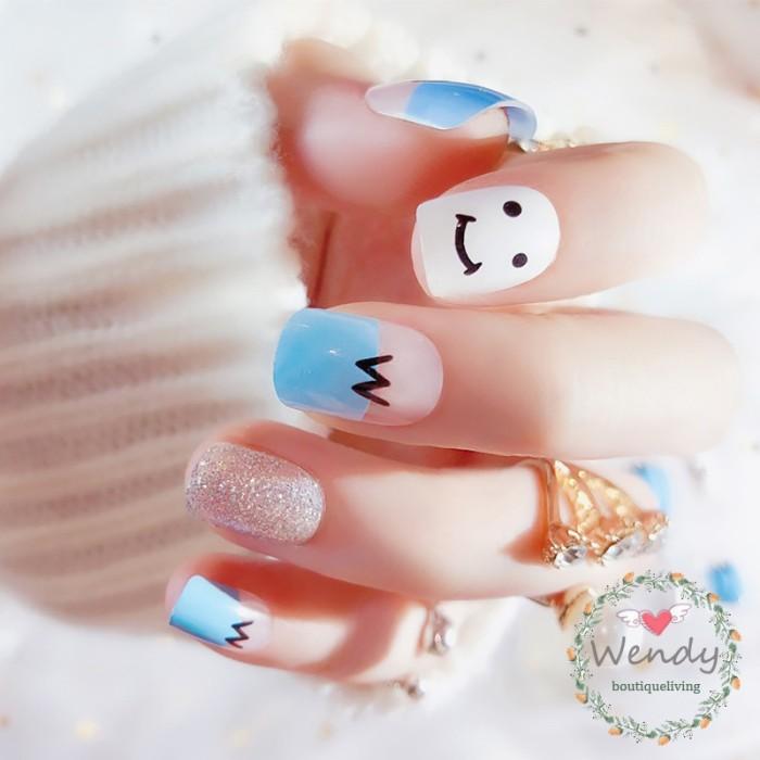 Jual Wendy 24pcs Sweet Cute Smiley Short Fake Nails Girl Diy Nail Jakarta Barat Syaqila Store Tokopedia