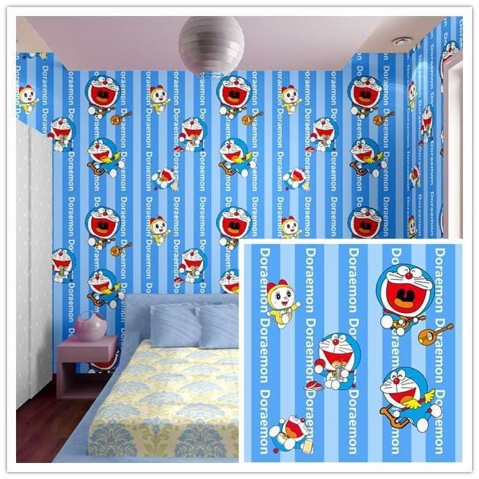 Jual Wallpaper Dinding Kamar Anak Doraemon Navy Sticker Dekorasi Rumah Kab Tangerang Pusat Tas Dompet Murah Tokopedia
