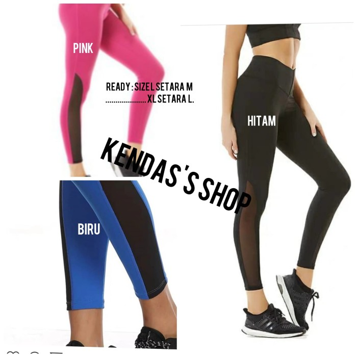 Jual Legging Sport Celana Senam Olahraga Wanita Premium Yoga Gym Mesh Bawah Jakarta Barat Kendas S Shop Tokopedia