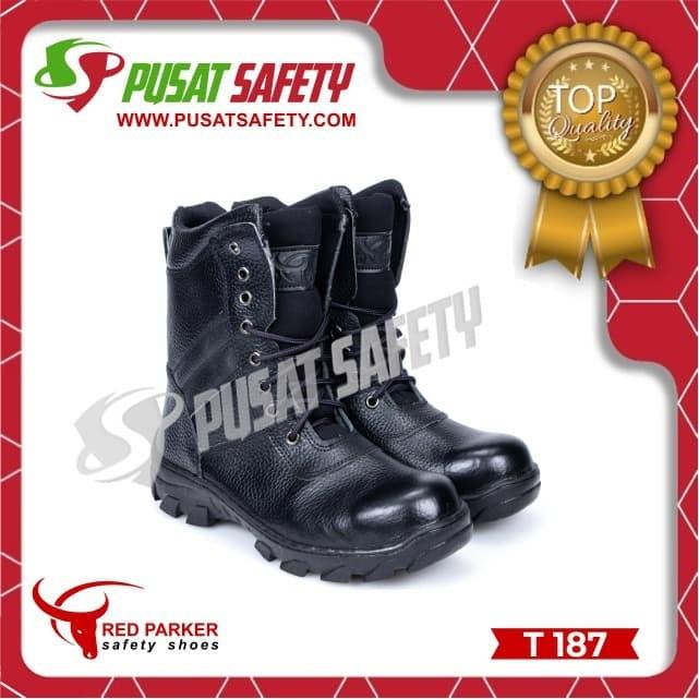 Foto Produk Sepatu Kerja Safety Tinggi PDL Red Parker T187 dari Pusat Safety Online