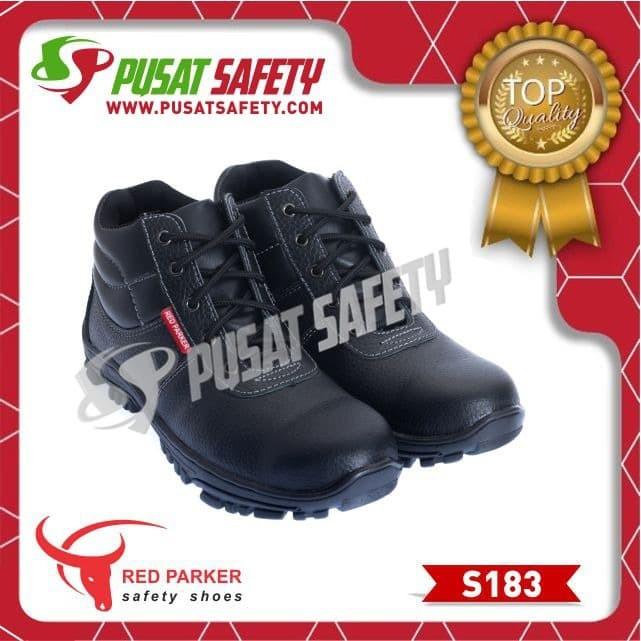 Foto Produk Sepatu Kerja Safety Sedang Tali Red Parker S183 - Hitam, 39 dari Pusat Safety Online