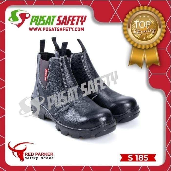 Foto Produk Sepatu Kerja Safety Sedang Karet Red Parker S185 - 38 dari Pusat Safety Online