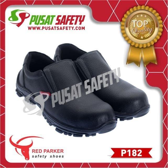 Foto Produk Sepatu Kerja Safety Pendek Slop Red Parker P182 - Hitam, 38 dari Pusat Safety Online