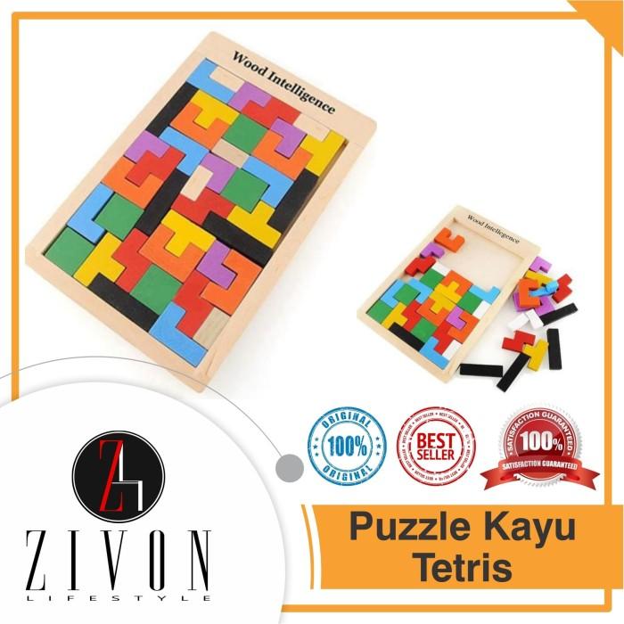 Foto Produk Mainan Anak Puzzle Kayu Russian Block Wood Intellegence Tetris QM3 - 16 x 10 dari ZIVON HOME DECOR
