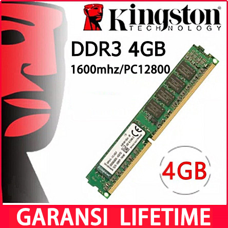 Foto Produk Memory Pc Ddr3 Kingston 4g - 4GB 1600MHZ dari Smith Tom