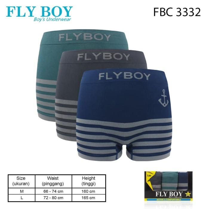 Foto Produk Flyboy Celana Dalam Anak Laki Boys Boxer Seamless FBC 3332 - L dari Flyman Nathalie Store