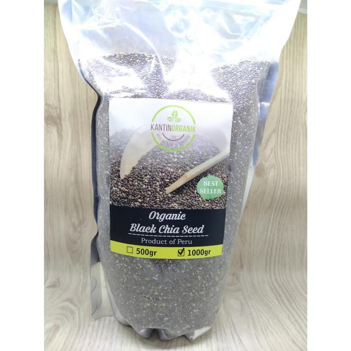 Foto Produk Organic Black Chia Seed Peru 1kg dari Kantin Organik