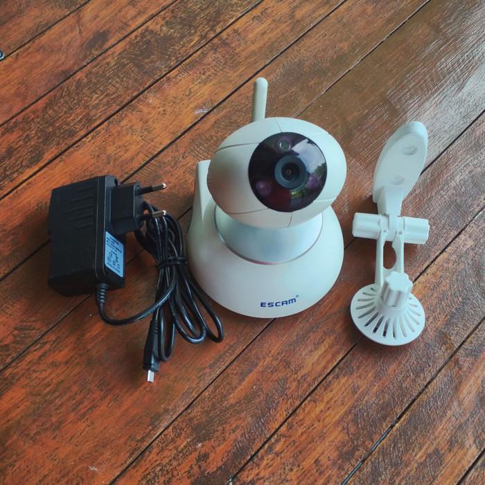 Foto Produk CCTV IP Camera WiFi - ESCAM Super Egg QF550 - ONVIF, PTZ, HD 720p dari Pondok Tekno