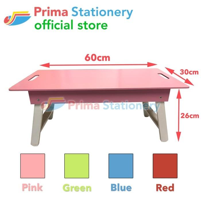 Foto Produk Meja Lipat Kayu Warna Anak utk Belajar Baca Tulis Gambar Makan Laptop dari Prima Stationery