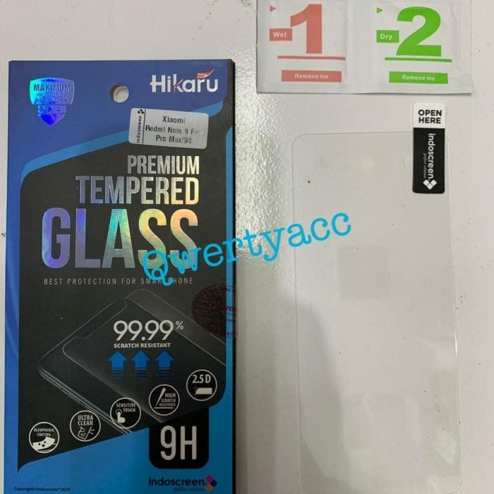 Foto Produk Xiaomi Redmi Note 9 Pro Tempered Glass Hikaru Anti Gores Kaca dari QwertyAcc